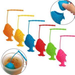 Infuseur de thé forme poisson en silicone